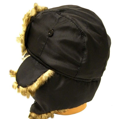 Water Resistant Bomber Hat w/ Fur Lining - 1