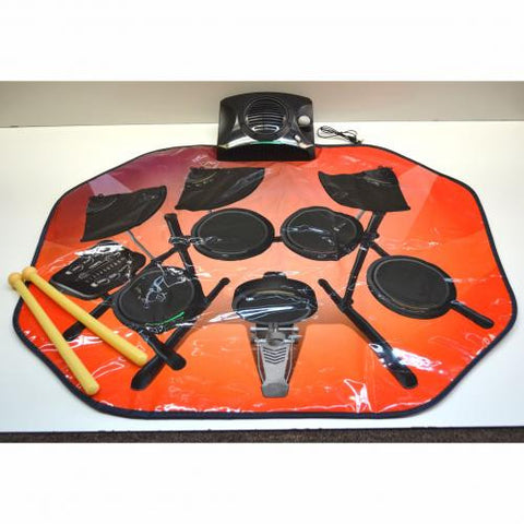 Glowing Electronic Drum Kit Playmat W/Drumsticks - 1