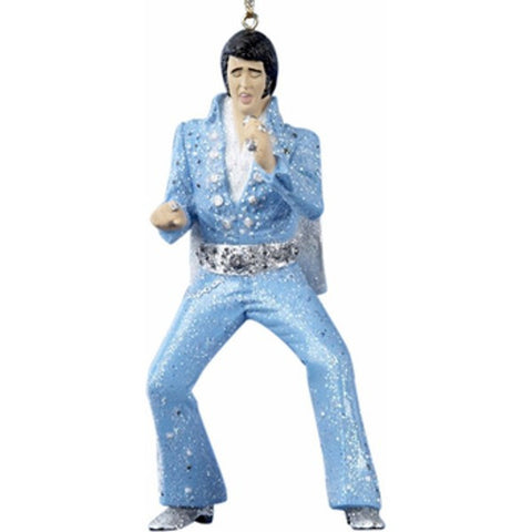 Resin Elvis In Light Blue Jumpsuit Ornament
