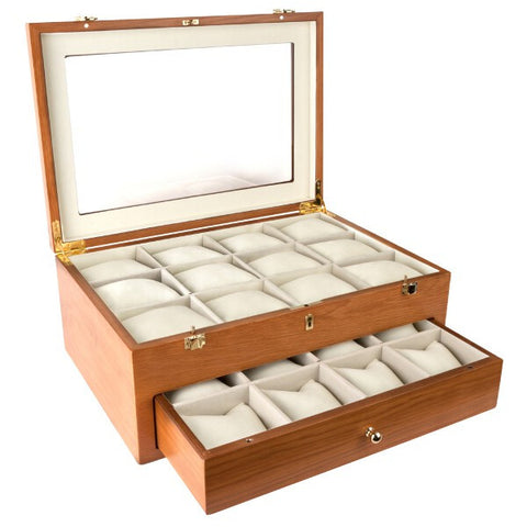 Oak Watch Storage Box