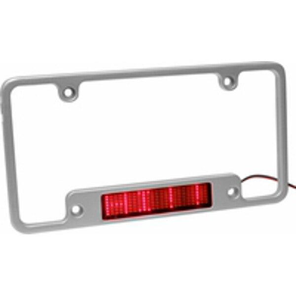Aluminum LED Moving Message License Plate Frame - 1