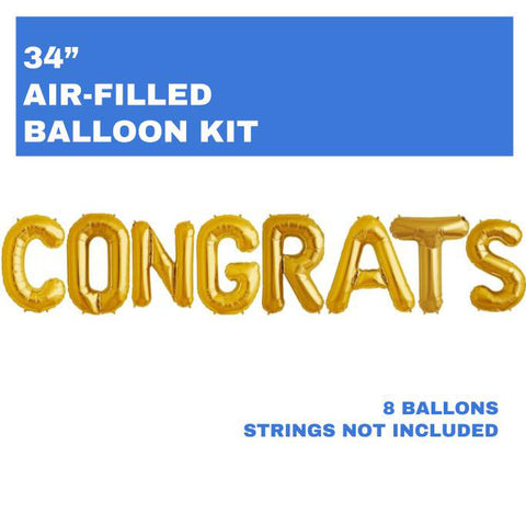"CONGRATS 34"" Balloon Letters - 1"