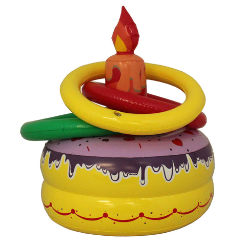 Inflatable Birthday Cake Ring Toss - 1