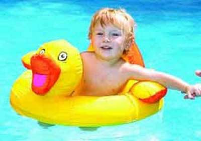 Fabric Covered Ducky Baby Pool Seat