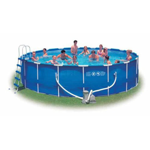 "Intex 18' x 48"" Metal Frame Complete Above Ground Swimming Pool"