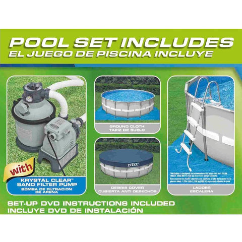 ... Intex 16ft X 48in Ultra Frame Pool Set W/ Sand Filter Pump   2 ...