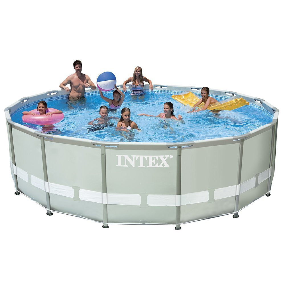 High Quality Intex 16ft X 48in Ultra Frame Pool Set W/ Sand Filter Pump