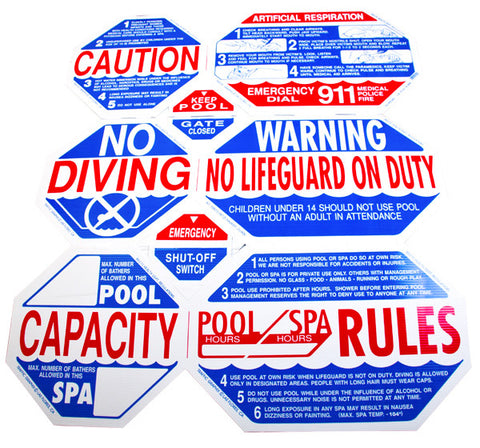 Pool Safety Sign 8-n-1
