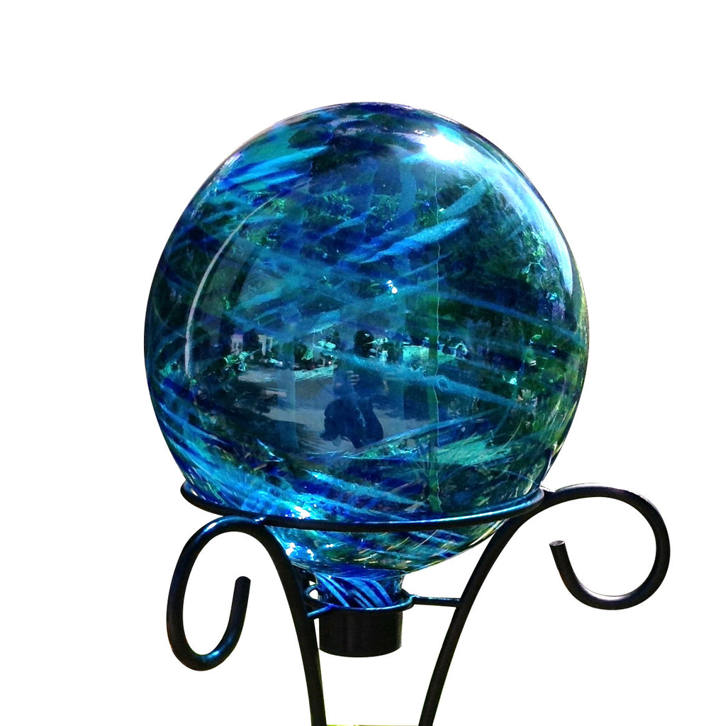 "Garden Gazing Ball 10"" Aqua Blue, Neptune"