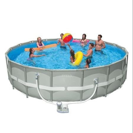 "Intex 18' x 48"" Ultra Frame Above Ground Pool And 1500 GPH Filter Pump"