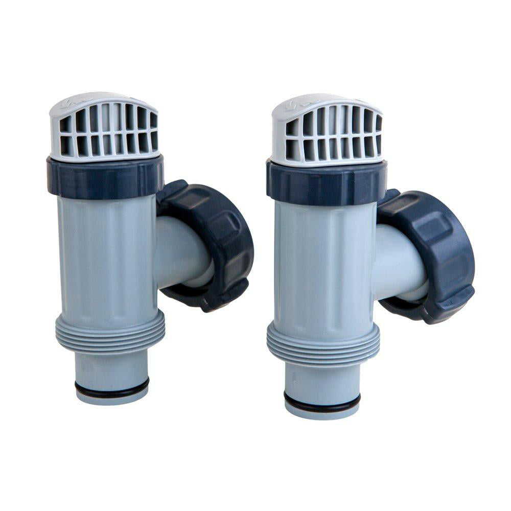 New Model Set of 2 Intex Large Pool Plunger Valve Assemblies