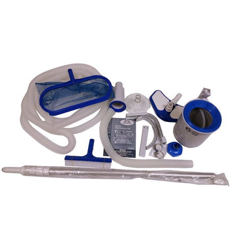 Intex Krystal Clear Deluxe Swimming Pool Maintenance Kit with Skimmer for Easy Set Pool