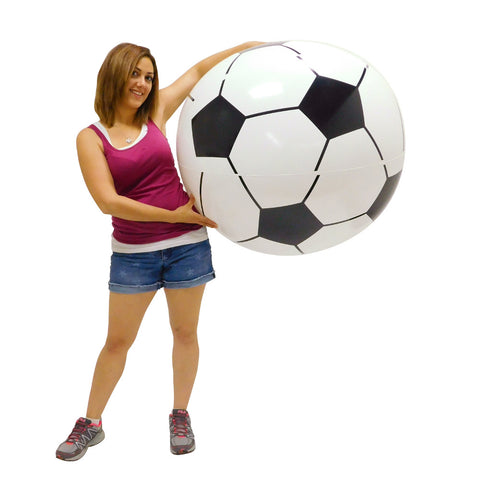 Large Inflatable Soccer Ball Pool Toy - 1