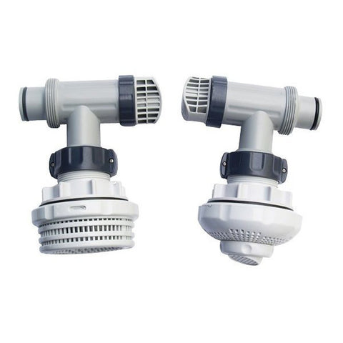 Set of 2 Intex Large Pool Plunger Valves w/ Pool Fittings