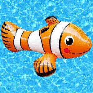 Inflatable Clown Fish Ride-on Pool Toy