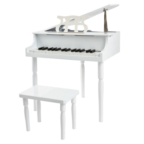 White 30 Key Toy Piano with Bench - 1
