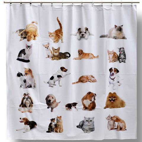 Cat & Dog Shower Curtain