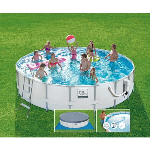 "18' x 48"" Summer Escapes ProSeries Round Frame Pool"