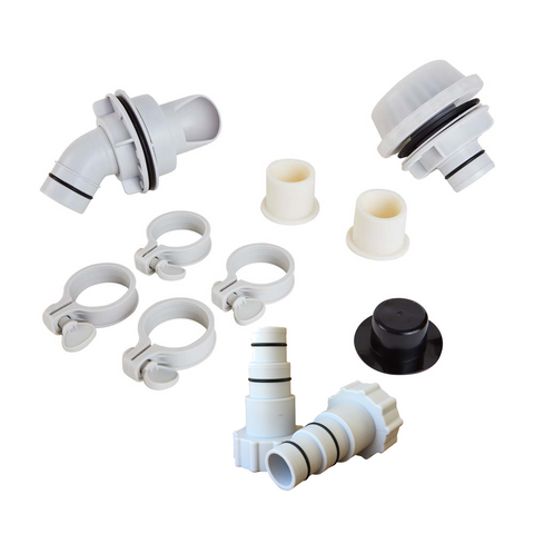 Replacement Wall Fitting Set for RX1000 Pumps by Summer Waves w/ Hose Adapters
