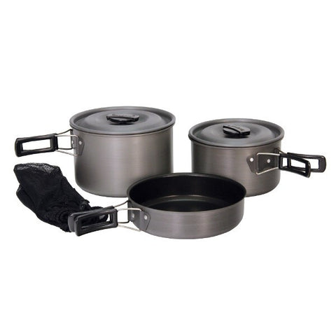 Black Camping Cookware Set