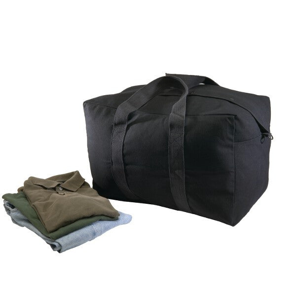 Black Canvas Parachute Bag