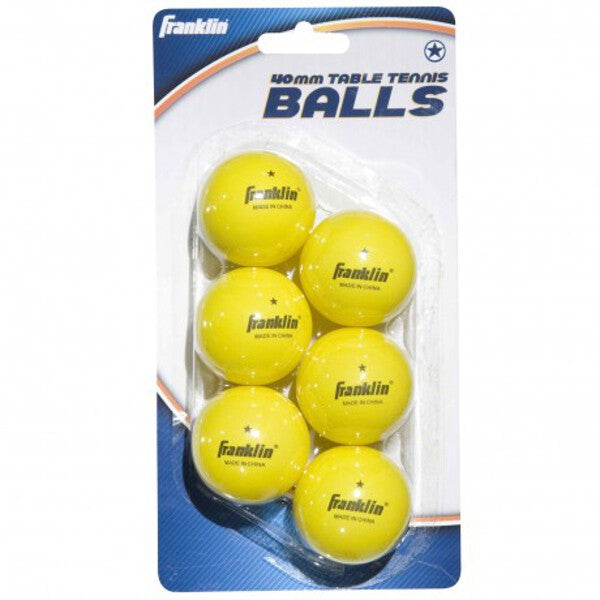 40mm Neon Table Tennis Balls 6 Pack