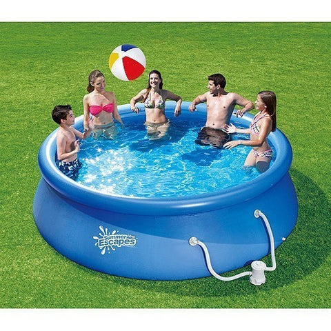 "Summer Escapes 12' x 36"" Quick Set Pool with 600 GPH Pump P21-1236-A"