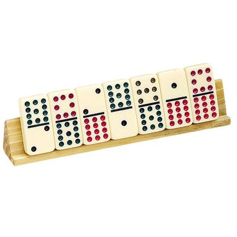 "2 Piece 8"" Wooden Domino Holder"