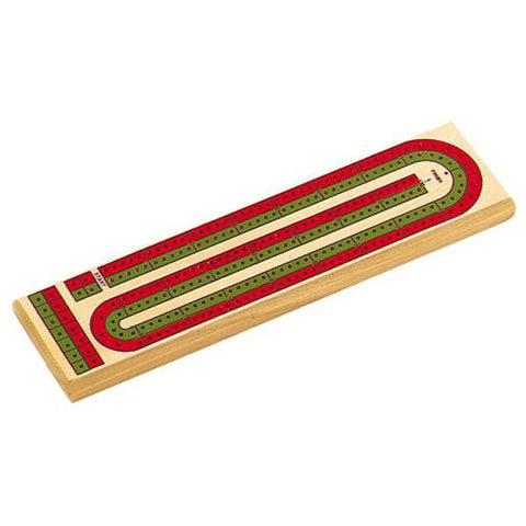 "13½"" Green and Red Cribbage Board"