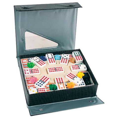 Professional White Double Twelve Dominoes & Mexican Train Set