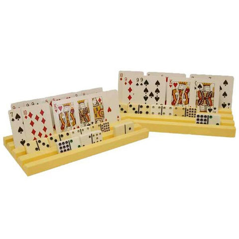 2 Piece Plastic Domino and Card Holder