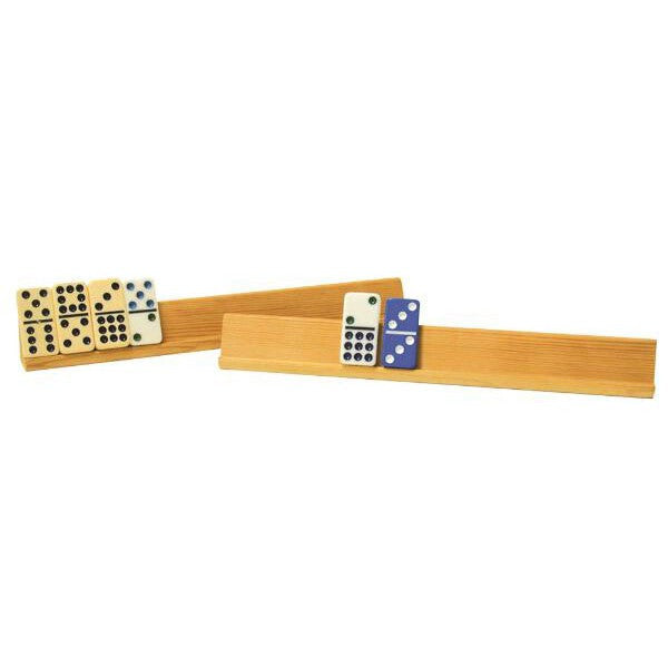 2 Piece Large 15 inch Wooden Domino Holder