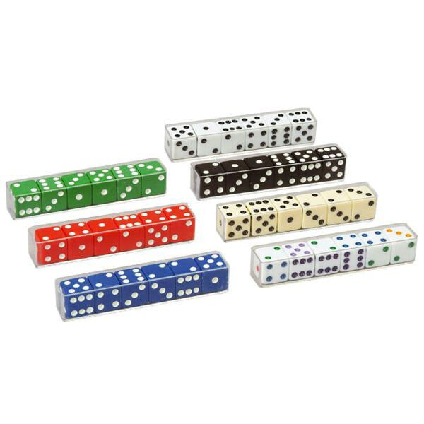 5 Piece Black Dice Pack