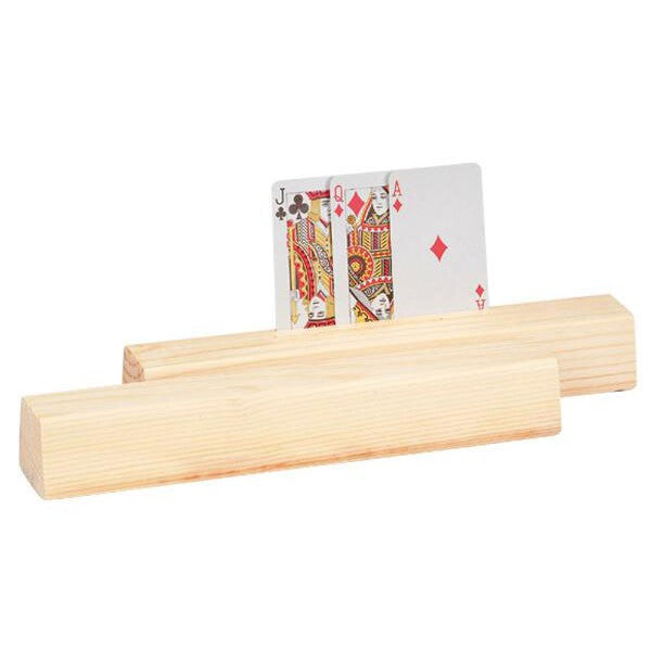 2 Piece 11 inch Slot Wooden Card Holder