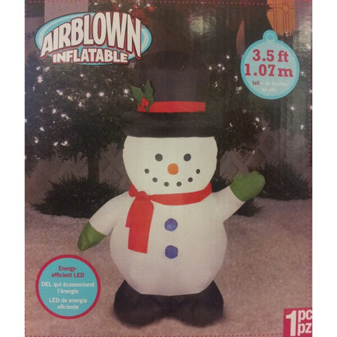 Small Airblown Outdoor Snowman