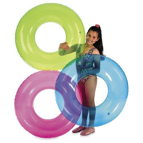 "30"" Basic Transparent Inflatable Swim Tube"