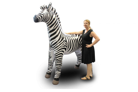7' Tall Zebra Inflatable