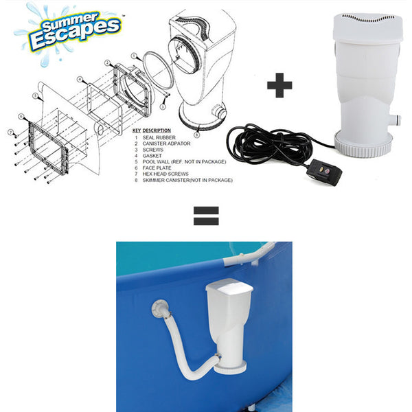 Sfs1000 Replacement Parts : Summer escapes pump sfs filtration system gph