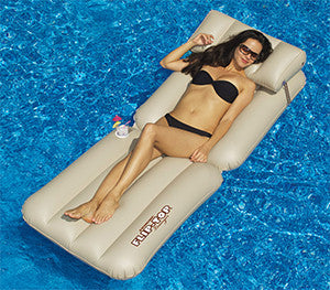 Flip Top Inflatable Pool Lounger - 1