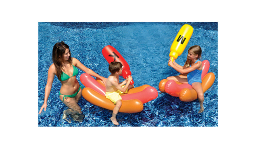 Inflatable Hotdog Battle Float Pool Toy