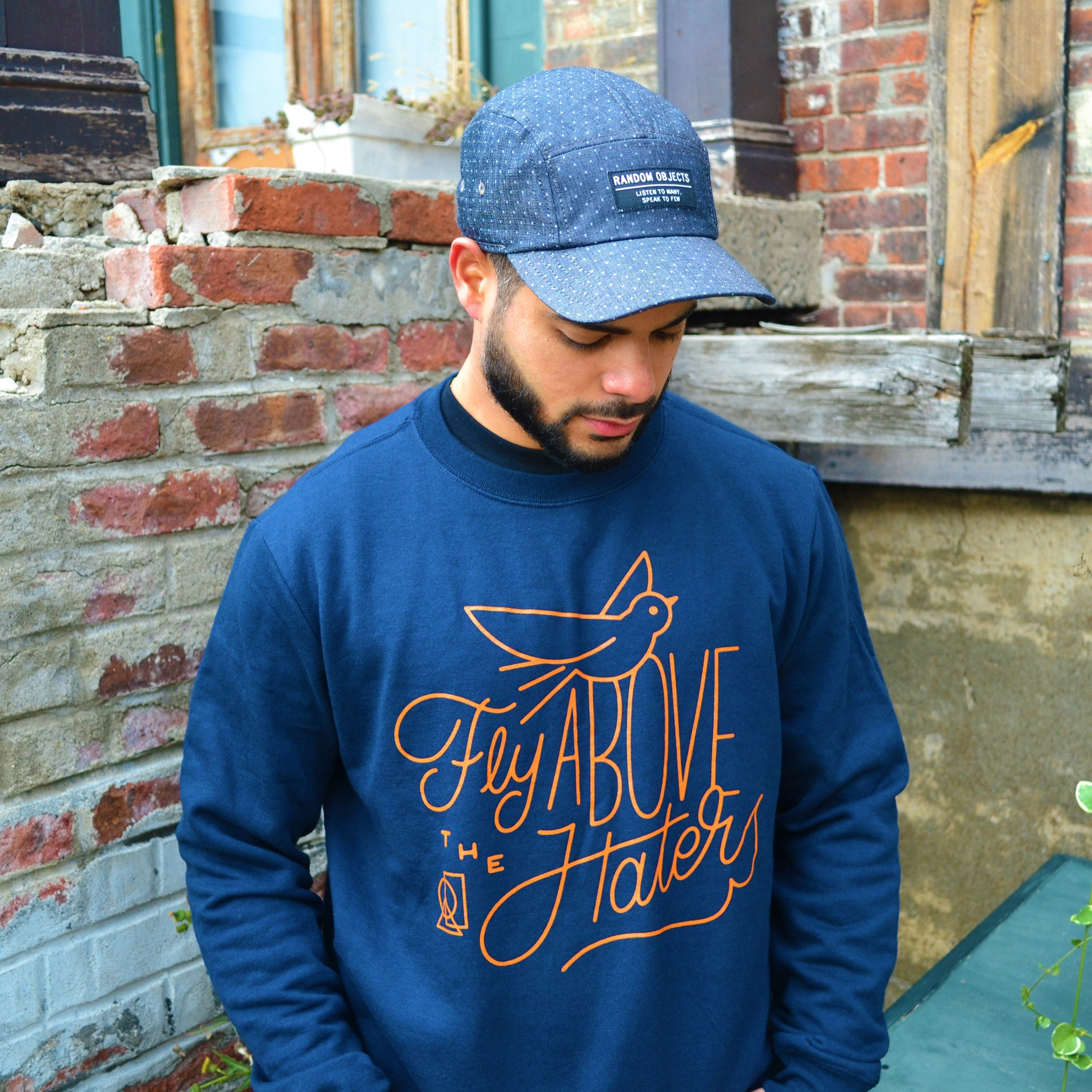 """FLY ABOVE"" CREWNECK SWEATER"