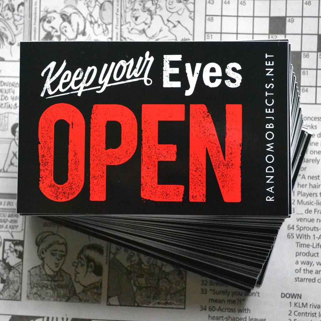 """OPEN"" STICKER"