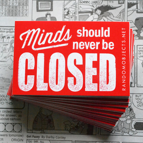 """CLOSED"" STICKER"