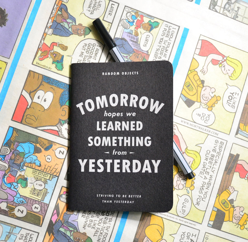 """TOMORROW"" NOTEBOOK"