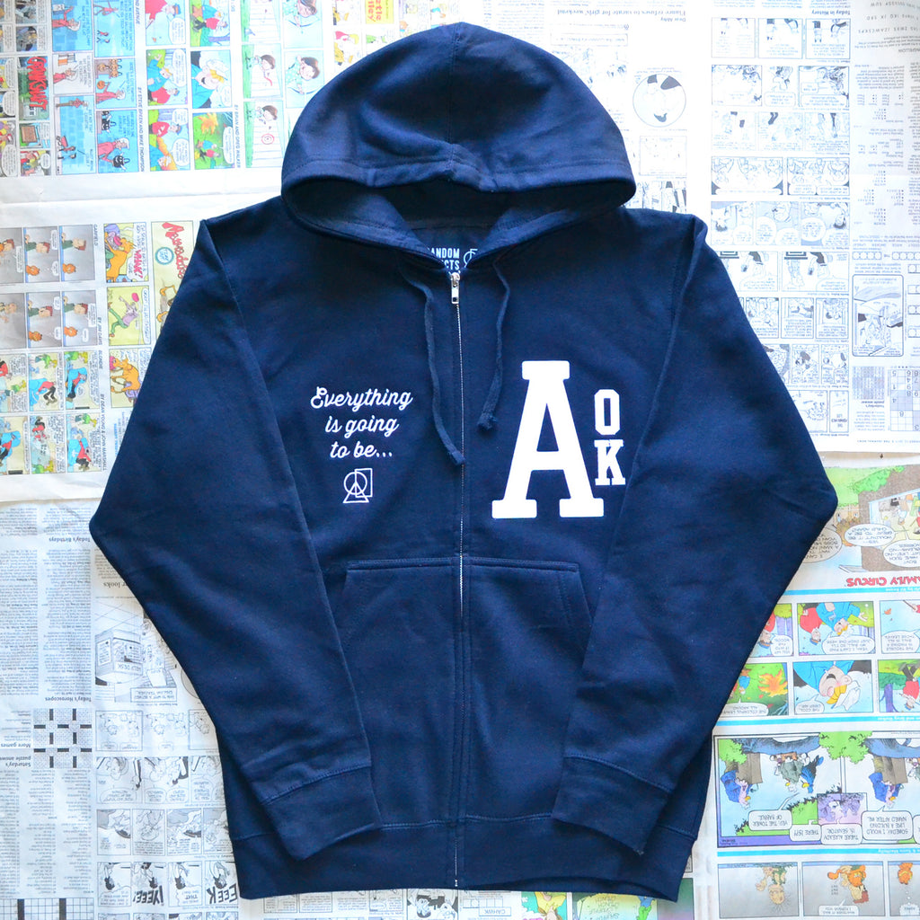 """A-OK"" ZIP-UP SWEATER"