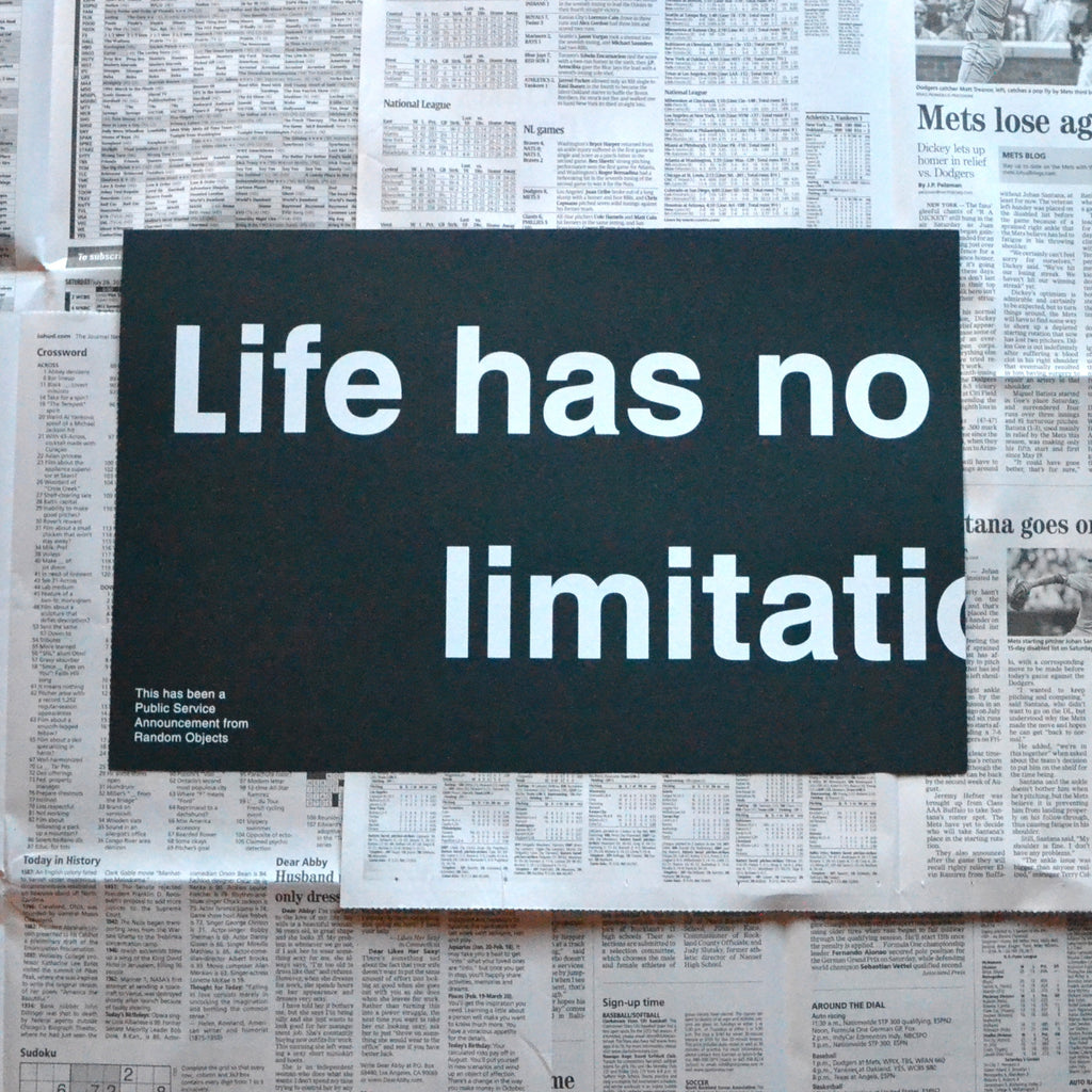 NO LIMITATIONS PRINT