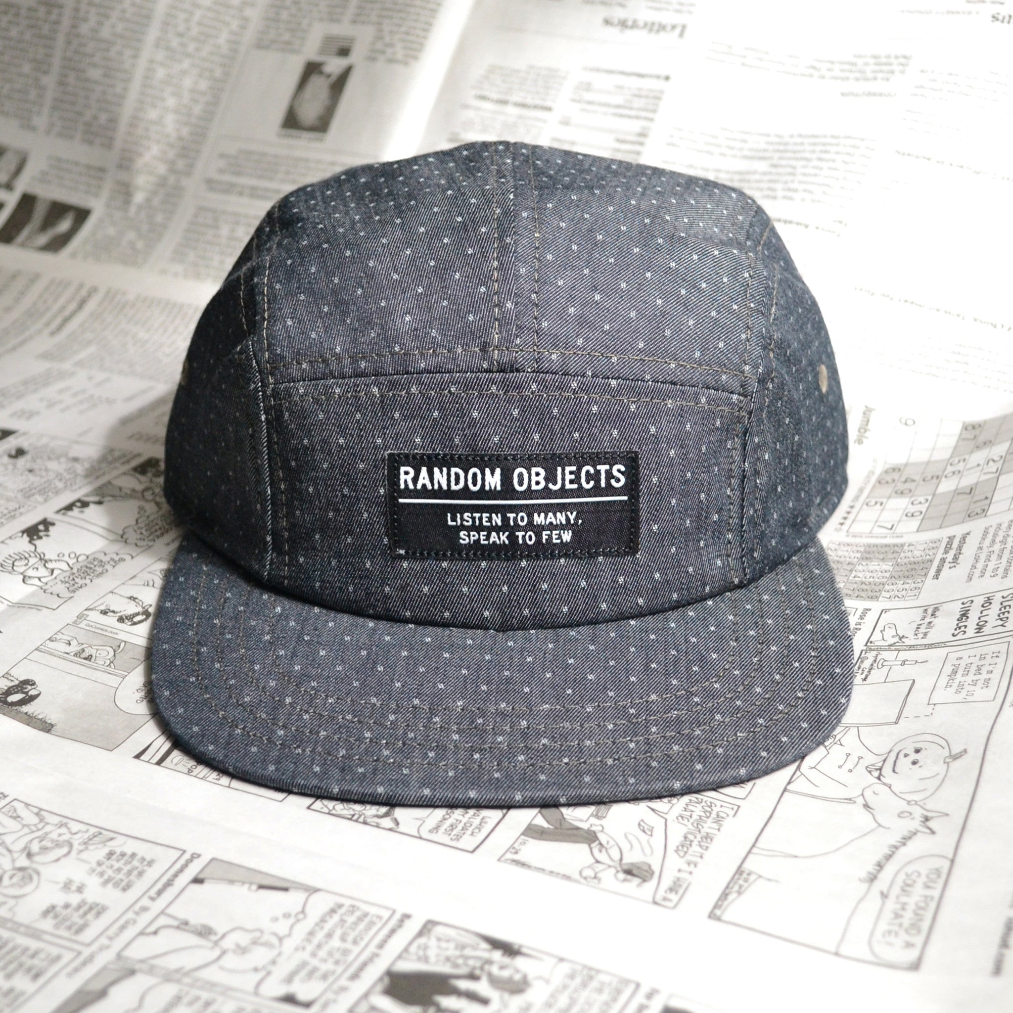 """LISTEN & SPEAK"" 5-PANEL CAP (ASPHALT GRAY)"