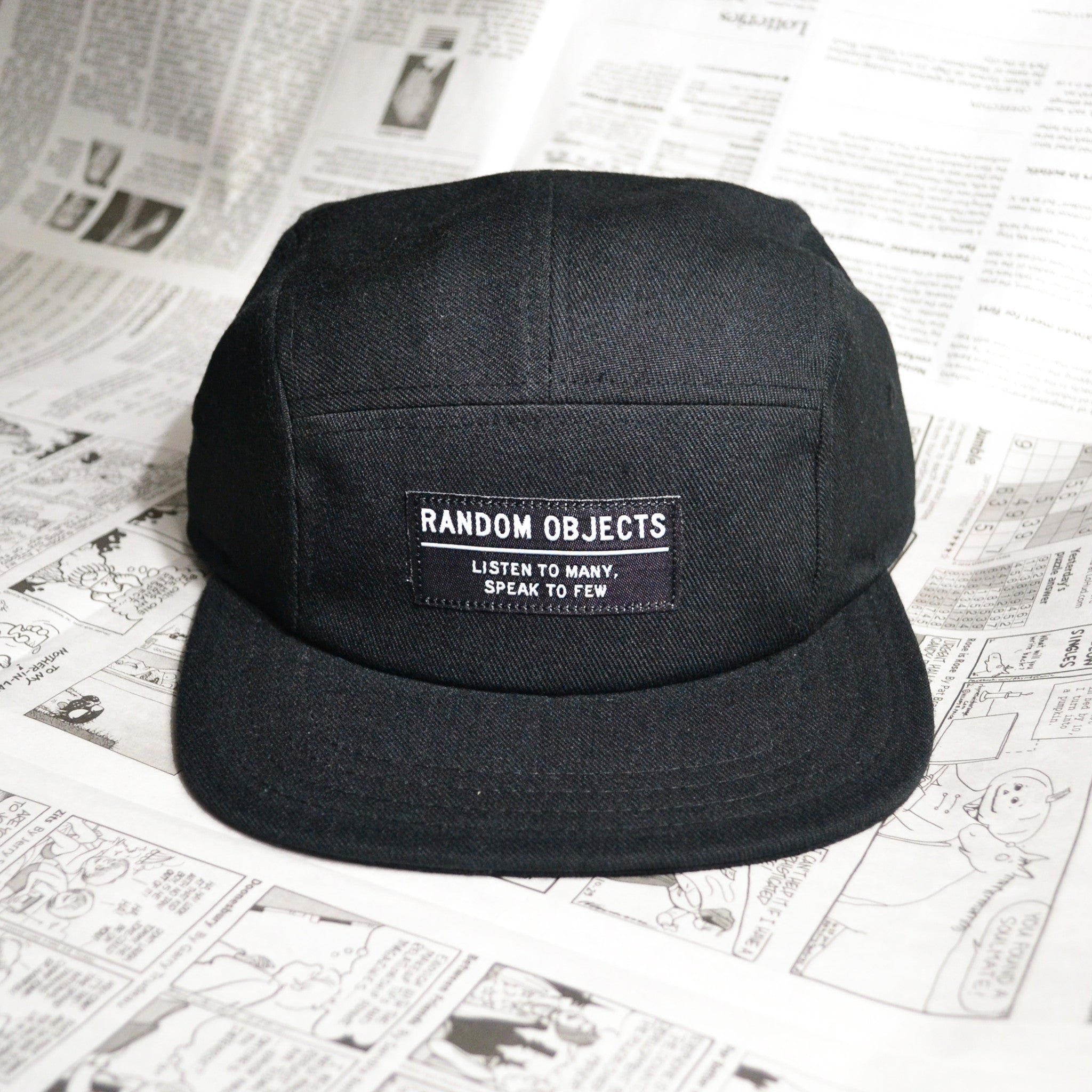 """LISTEN & SPEAK"" 5-PANEL CAP (BLACK)"