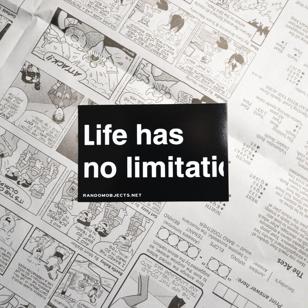 """NO LIMITATION"" STICKER"
