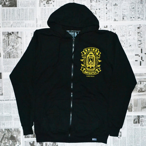 """SHINE BRIGHTLY"" ZIP-UP HOODIE"